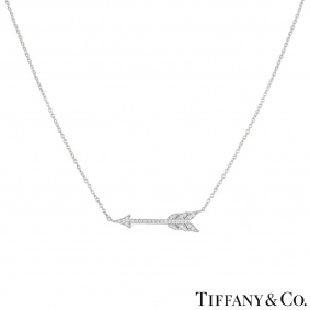 Tiffany & Co. Platinum Diamond Arrow Hearts Pendant